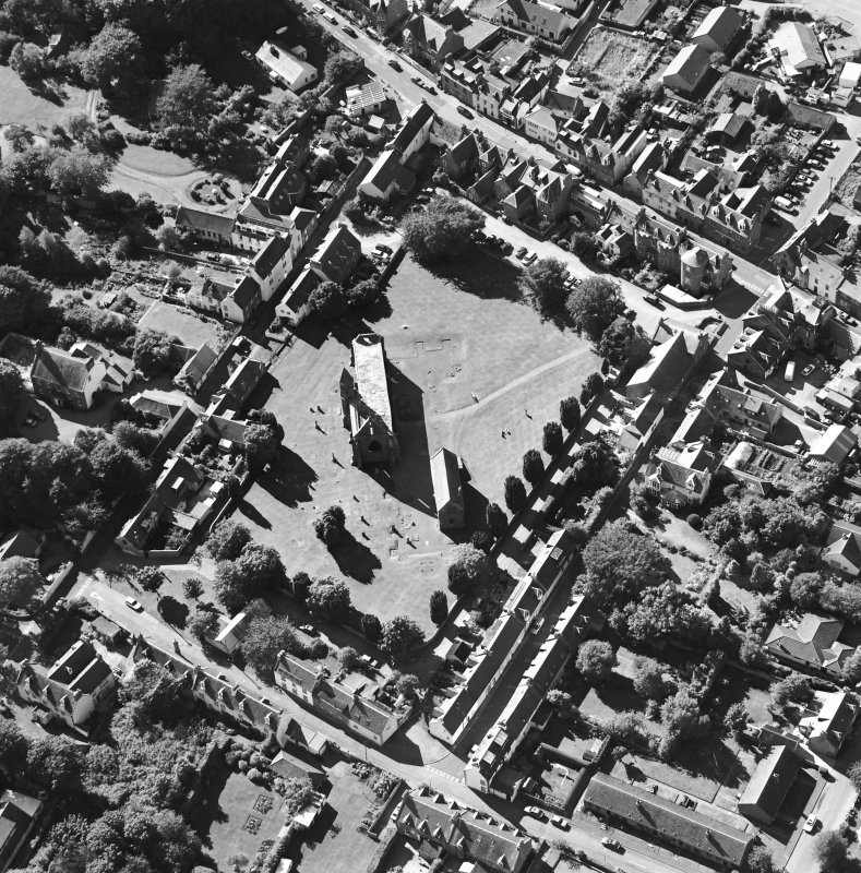 Oblique aerial view of Fortrose centred on the cathedral and court house, taken from the E.