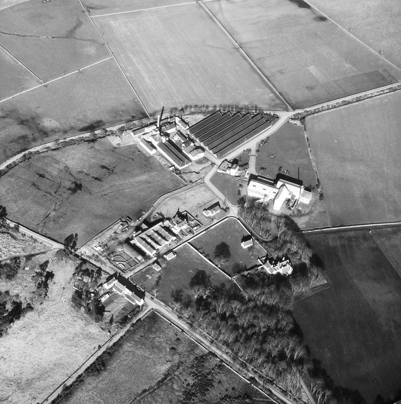 Aerial view of Brora and Clynelish Distilleries