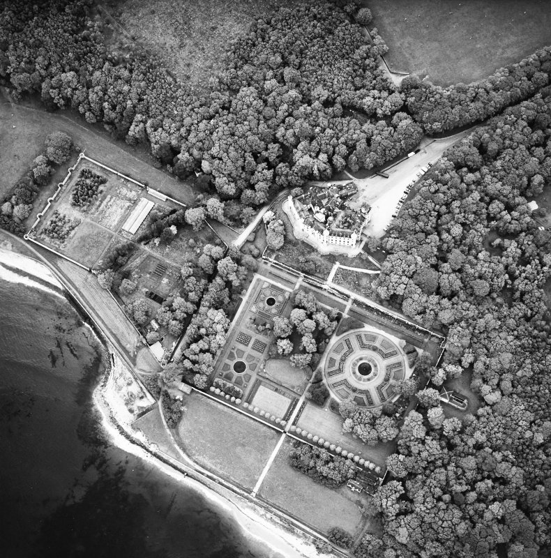 Dunrobin Castle, oblique aerial view, taken from the NE.
