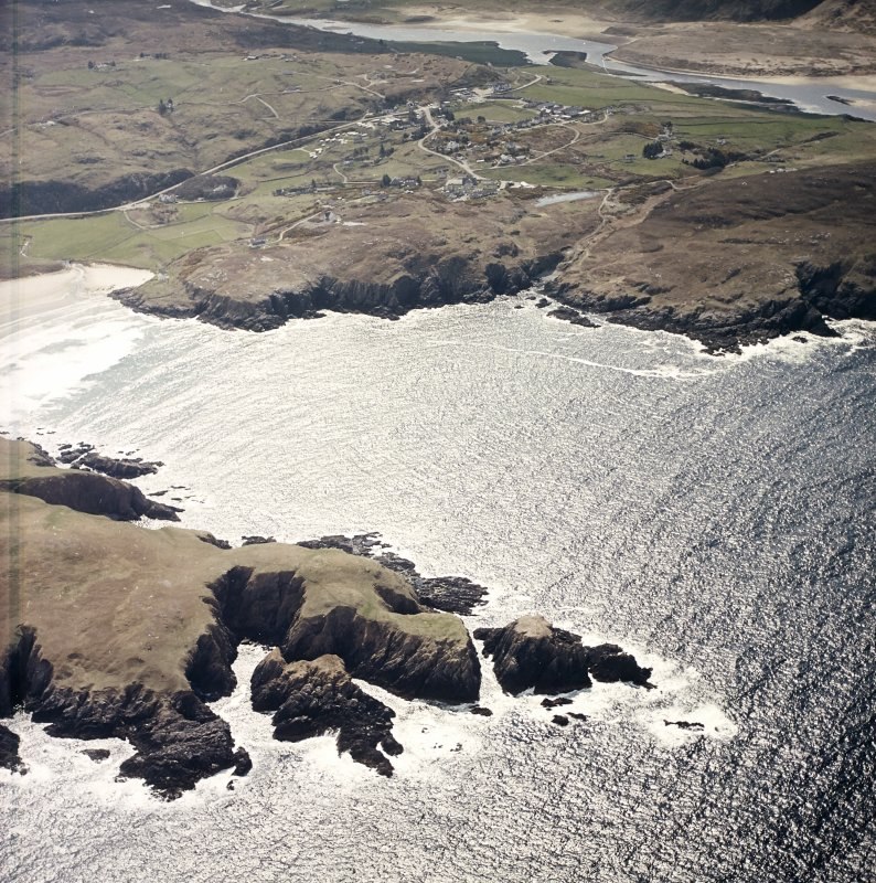 General oblique aerial view centred on the village of Bettyhill, taken from the N.