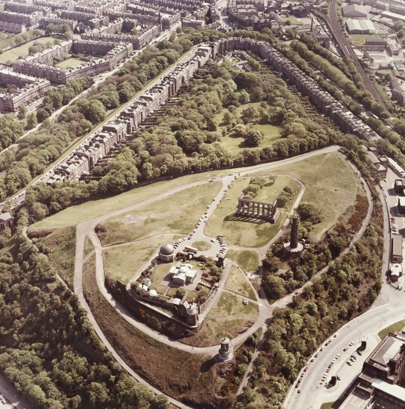 Aerial view of Calton Hill