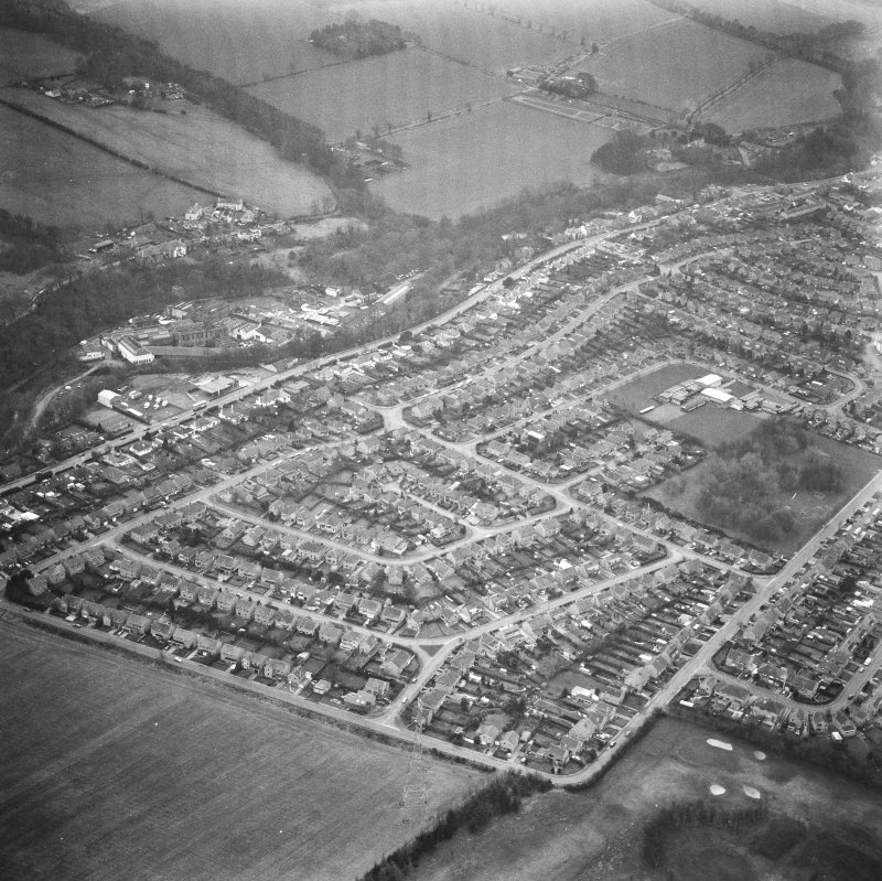 Currie, Edinburgh. Aerial view.