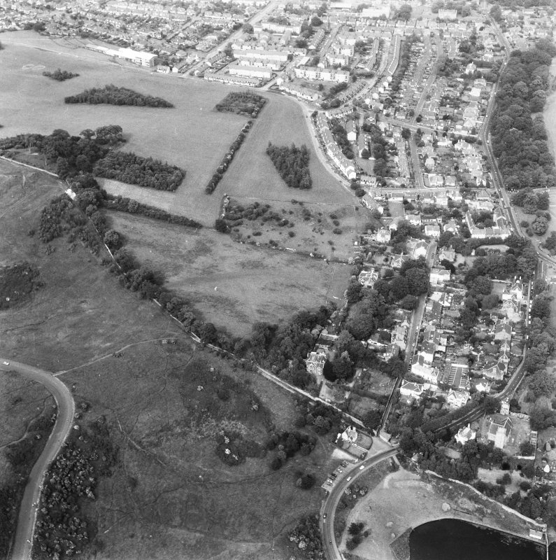 Oblique aerial view, taken from the East.