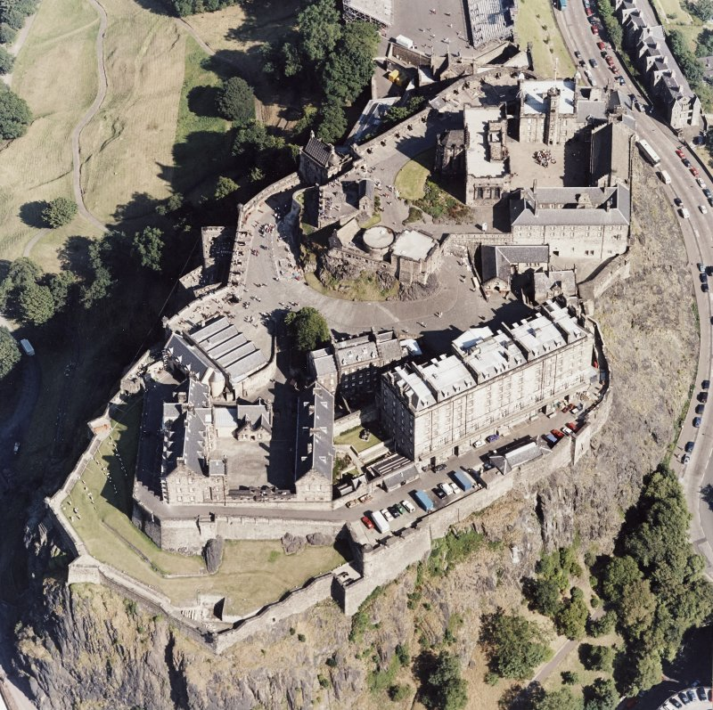 Edinburgh Castle, oblique aerial view.