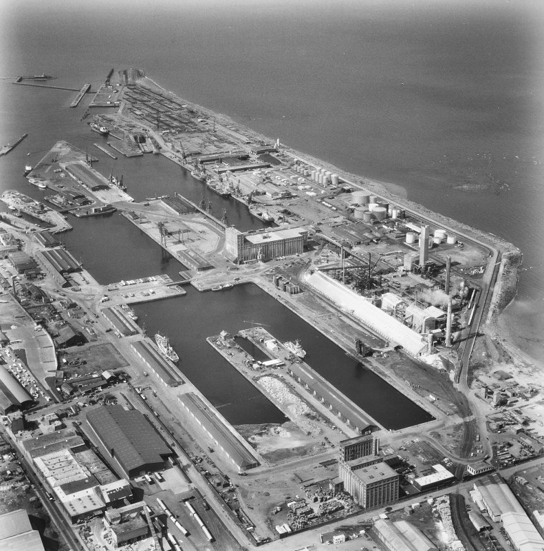 Leith Docks, aerial view.