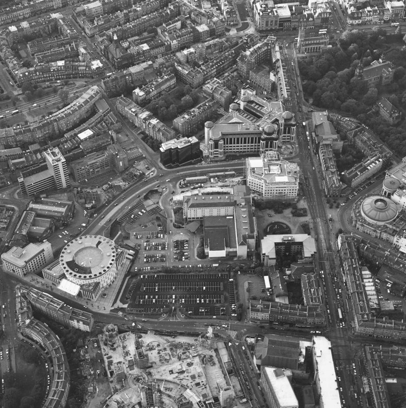 Edinburgh, oblique aerial view taken from the S, centred on Lothian Road.
