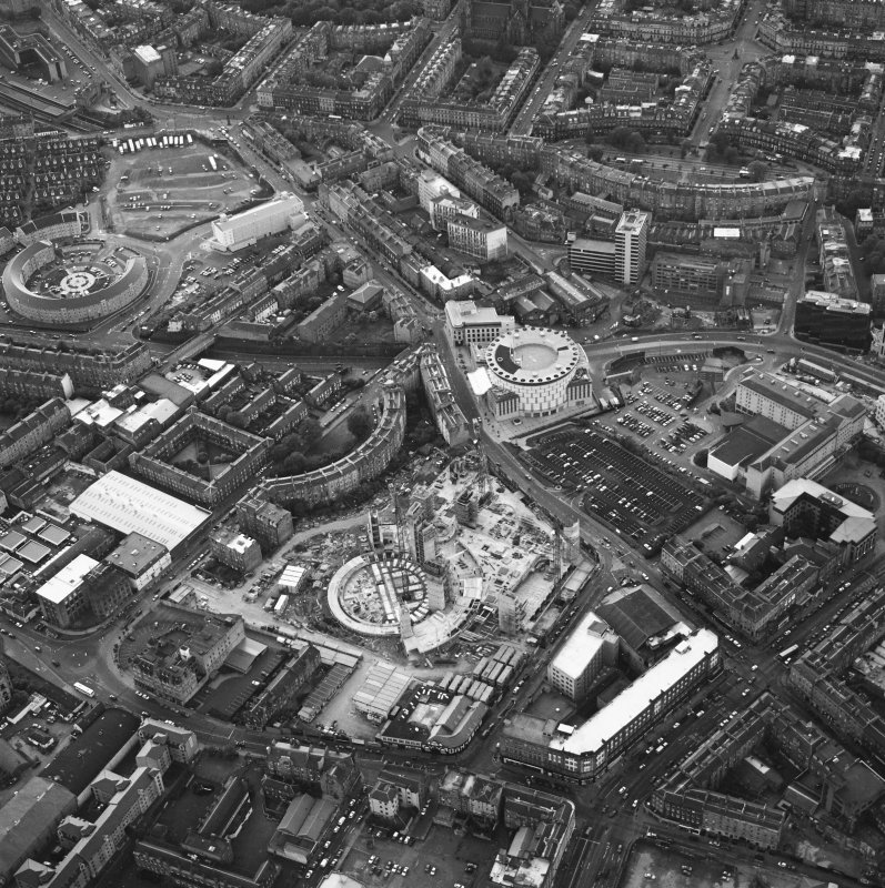 Edinburgh, oblique aerial view taken from the SE, centred on Lothian Road.