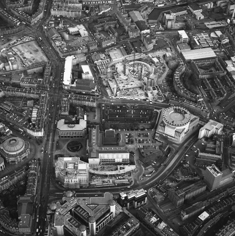 Edinburgh, oblique aerial view taken from the NW, centred on Lothian Road.