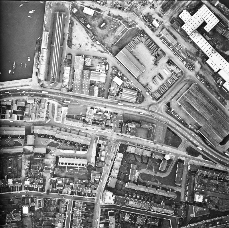 Leith Docks. Aerial view.