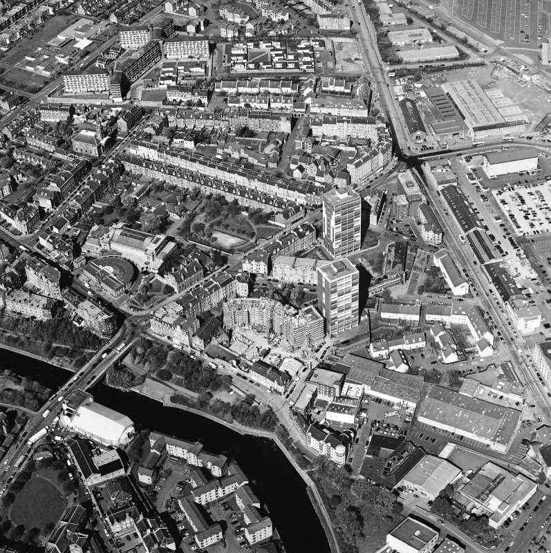 Oblique aerial view of North Leith, taken from the ESE.