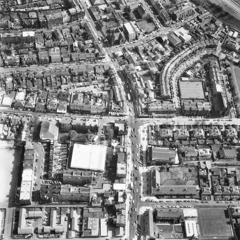 Edinburgh, Portobello. Aerial view from NW.