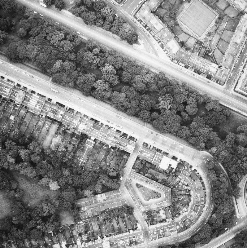 Aerial view of Carlton Terrace