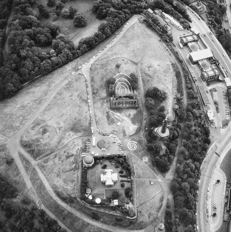 Aerial view showing designs for 1987 festival.