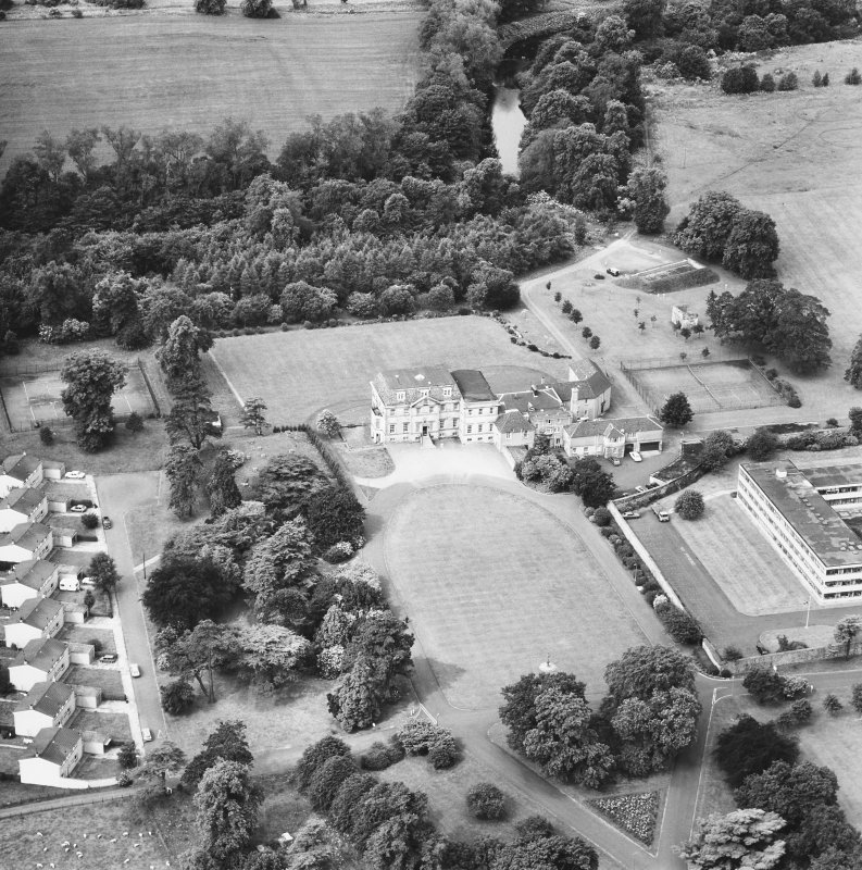 Craigiehall House. Aerial view from East.