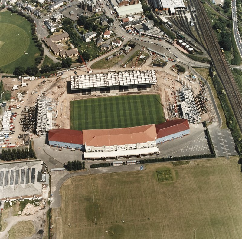 Aerial view of Murrayfield Stadium