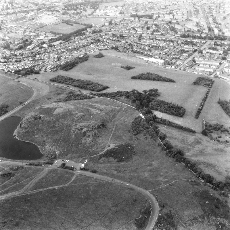 Oblique aerial view taken from the SW.
