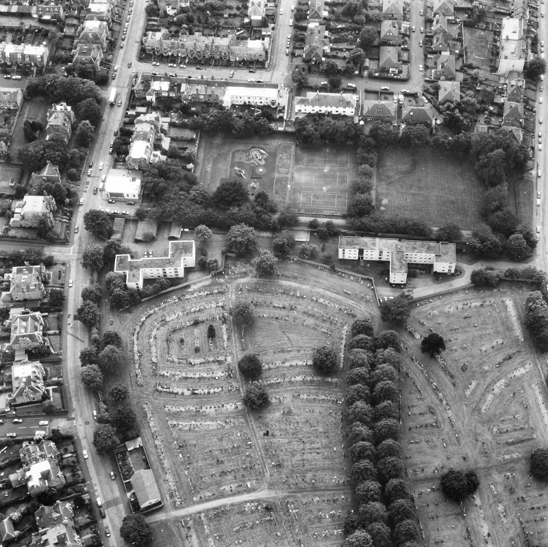 Morningside, Morningside Cemetery. Aerial view.