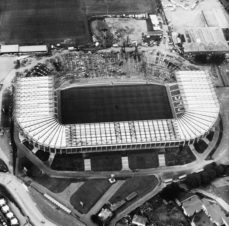 Aerial view of Murrayfield Stadium and Ice Rink.