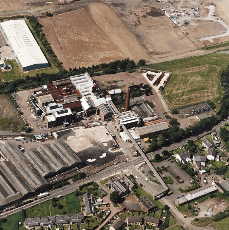 Oblique aerial view centred on Lady Victoria Colliery, taken from the ESE.