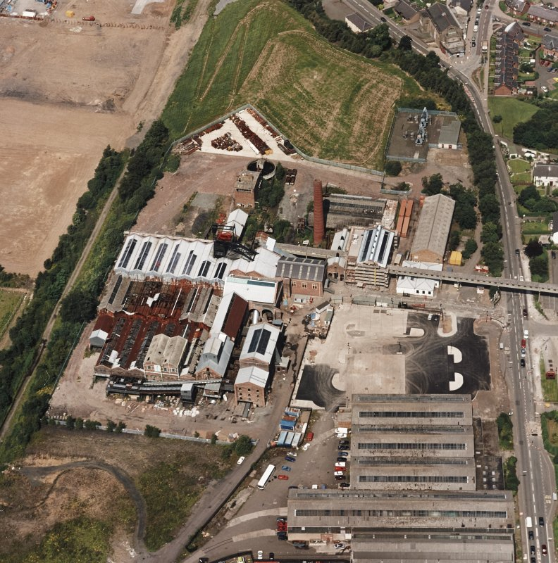 Oblique aerial view centred on Lady Victoria Colliery, taken from the SSE.