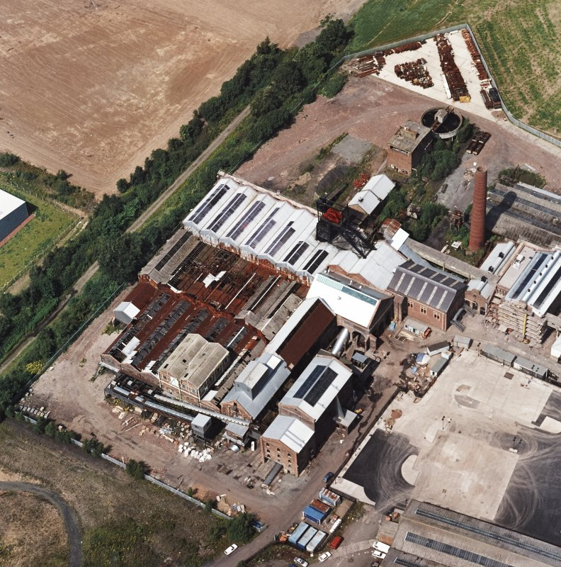 Oblique aerial view centred on Lady Victoria Colliery, taken from the SE.