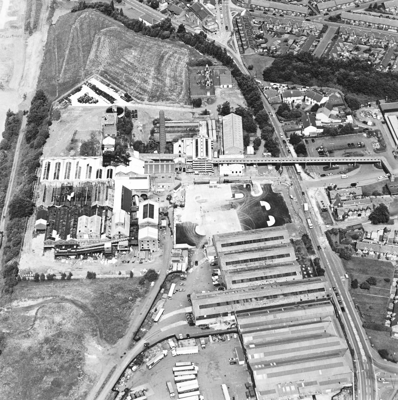 Oblique aerial view centred on Lady Victoria Colliery, taken from the S.