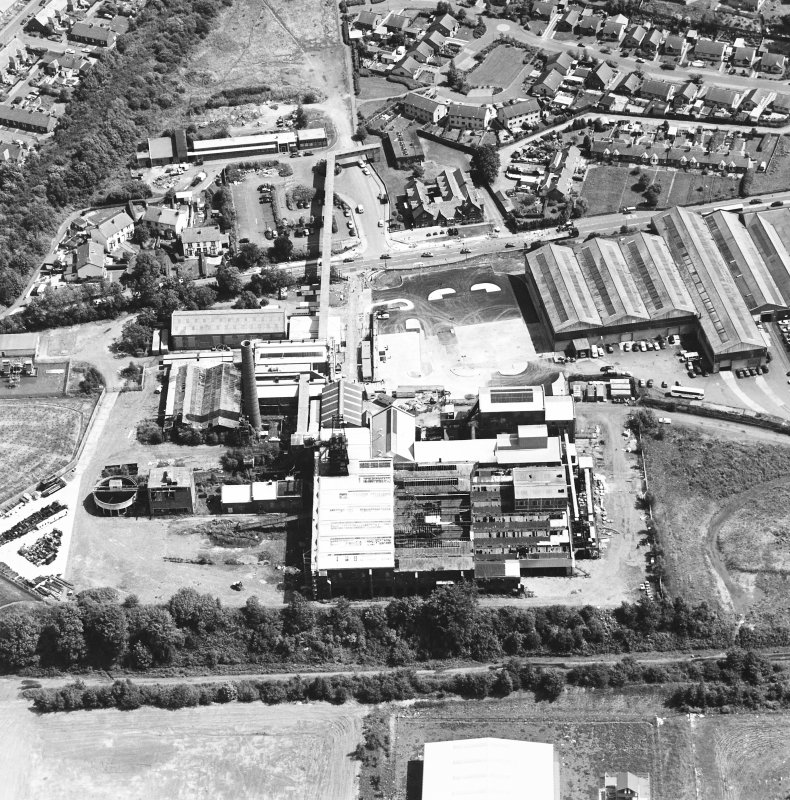 Oblique aerial view centred on Lady Victoria Colliery, taken from the W.