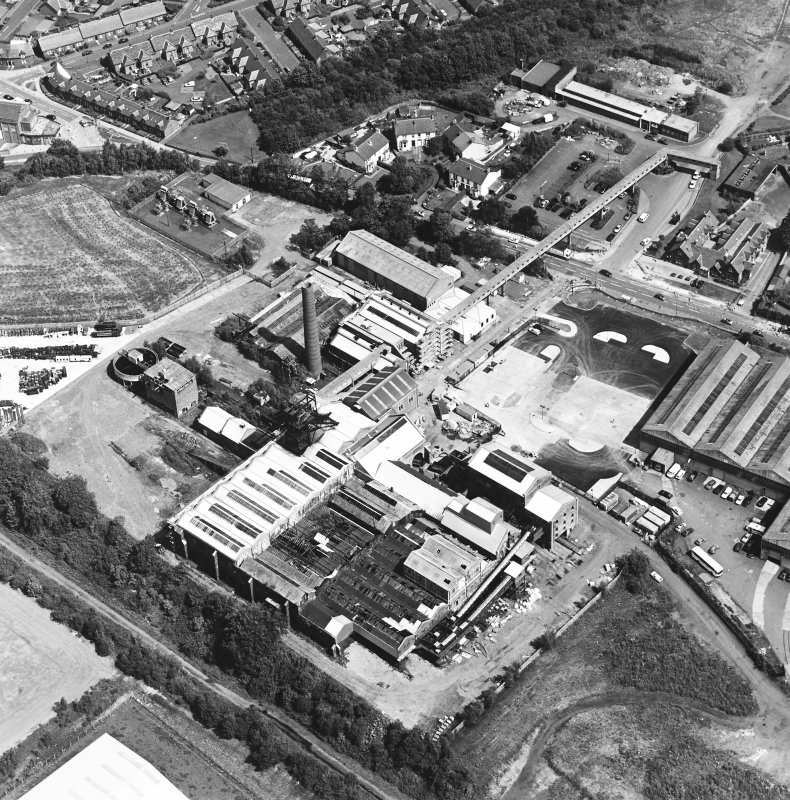 Oblique aerial view centred on Lady Victoria Colliery, taken from the SW.