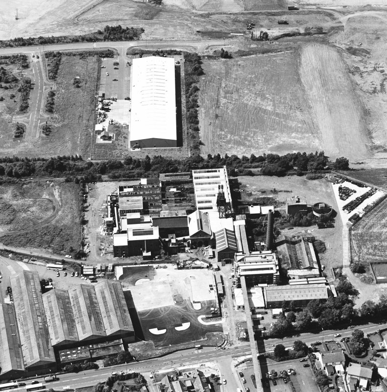 Oblique aerial view centred on Lady Victoria Colliery, taken from the E.