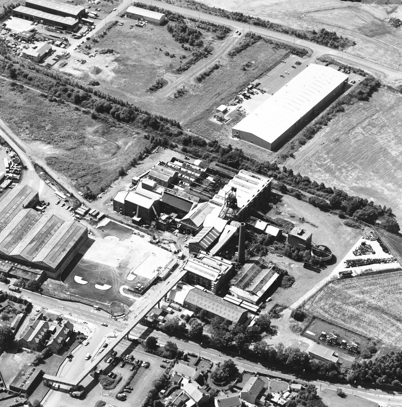 Oblique aerial view centred on Lady Victoria Colliery, taken from the ENE.