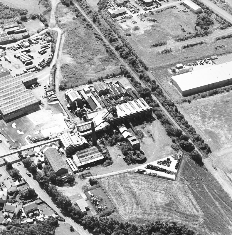 Oblique aerial view centred on Lady Victoria Colliery, taken from the NE.