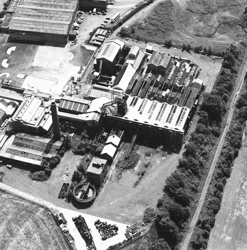 Oblique aerial view centred on Lady Victoria Colliery, taken from the NNW.