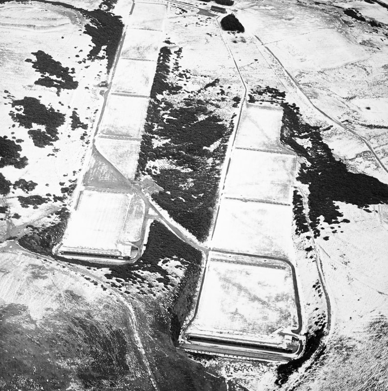 Oblique aerial view centred on the rifle range, taken from the NNW.