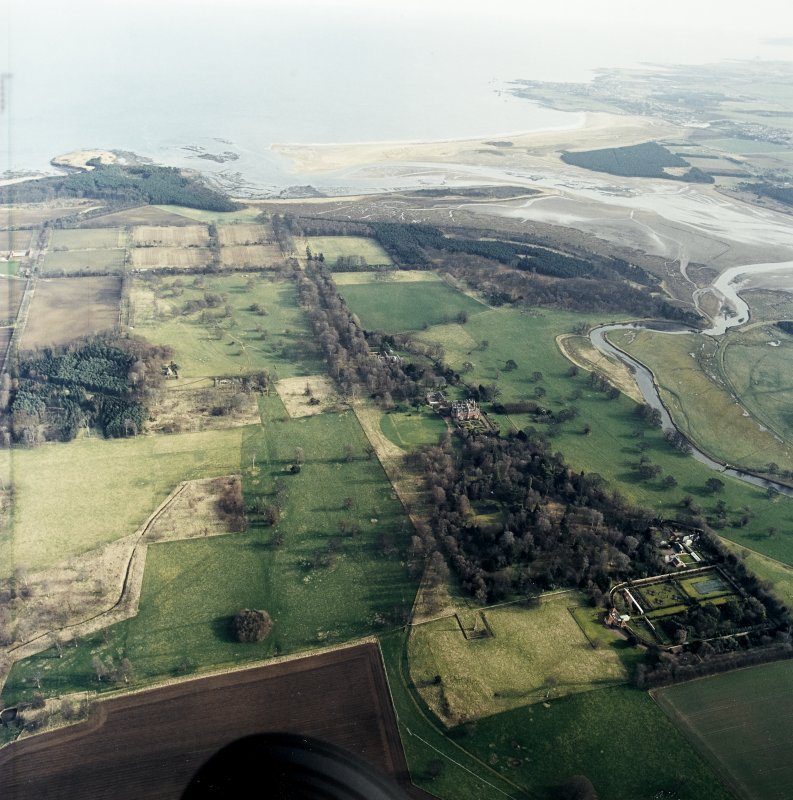 General oblique aerial view of the country house and policies, taken from the W.