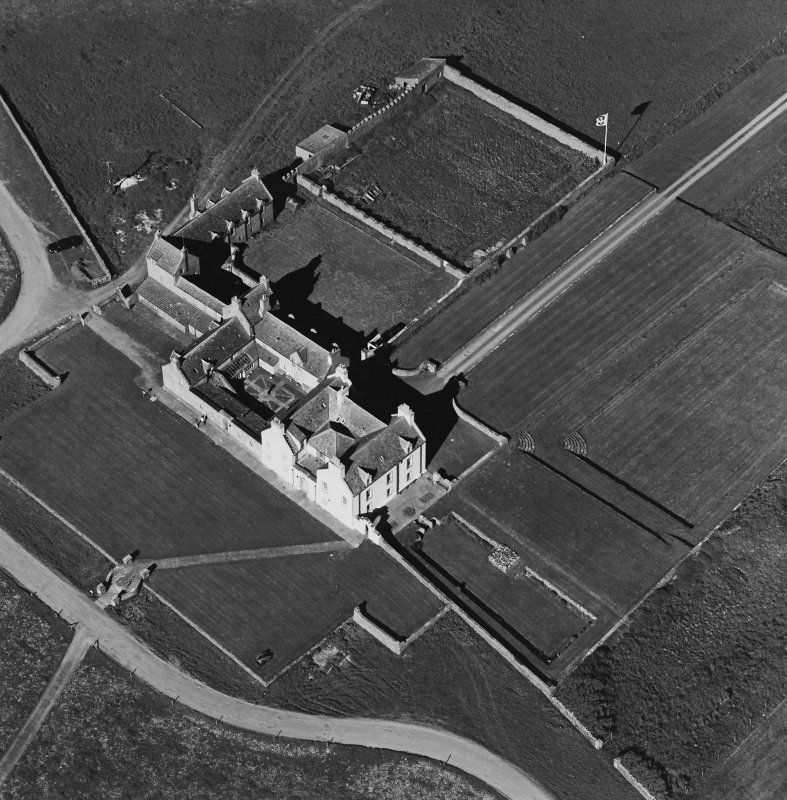 Aerial view of Orkney, Bay of Skaill, taken from the NW, Skaill House and gardens.