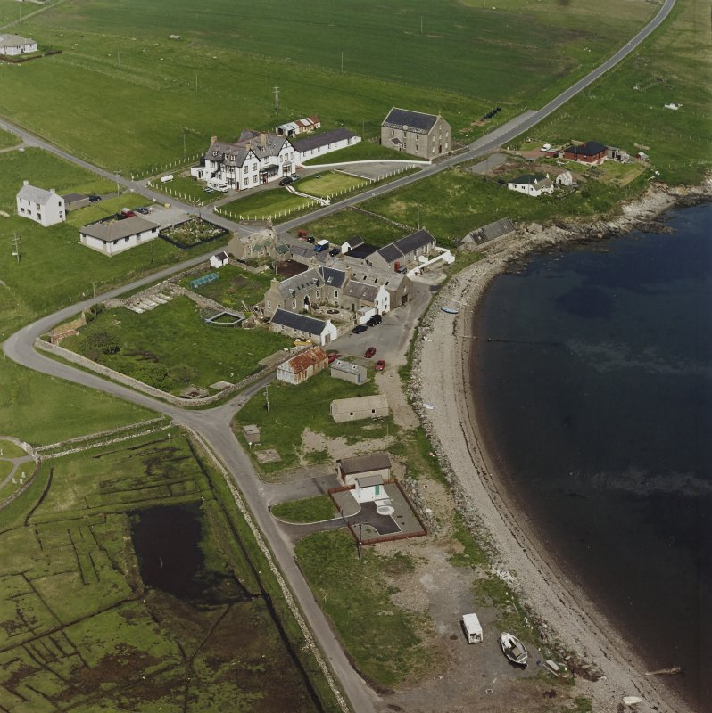 Oblique aerial view of the village, taken from the SSW.