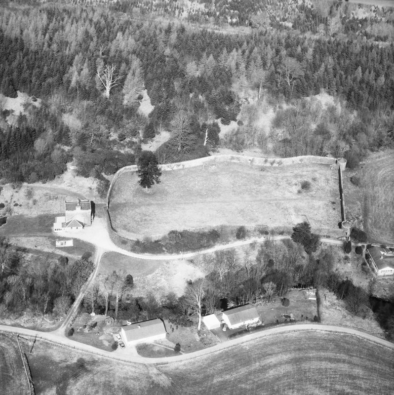 Oblique aerial view from South-East.