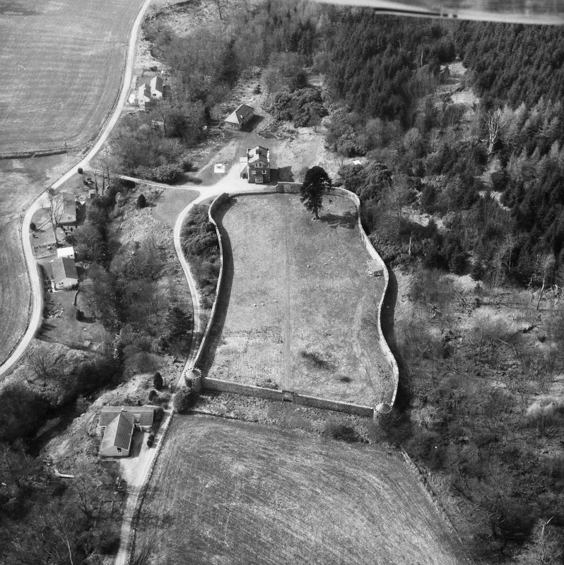 Oblique aerial view from North-East.