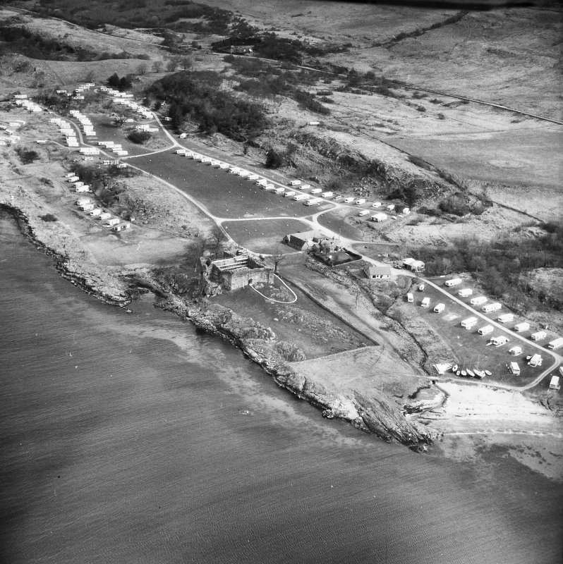 Castle Sween. Aerial view from West.