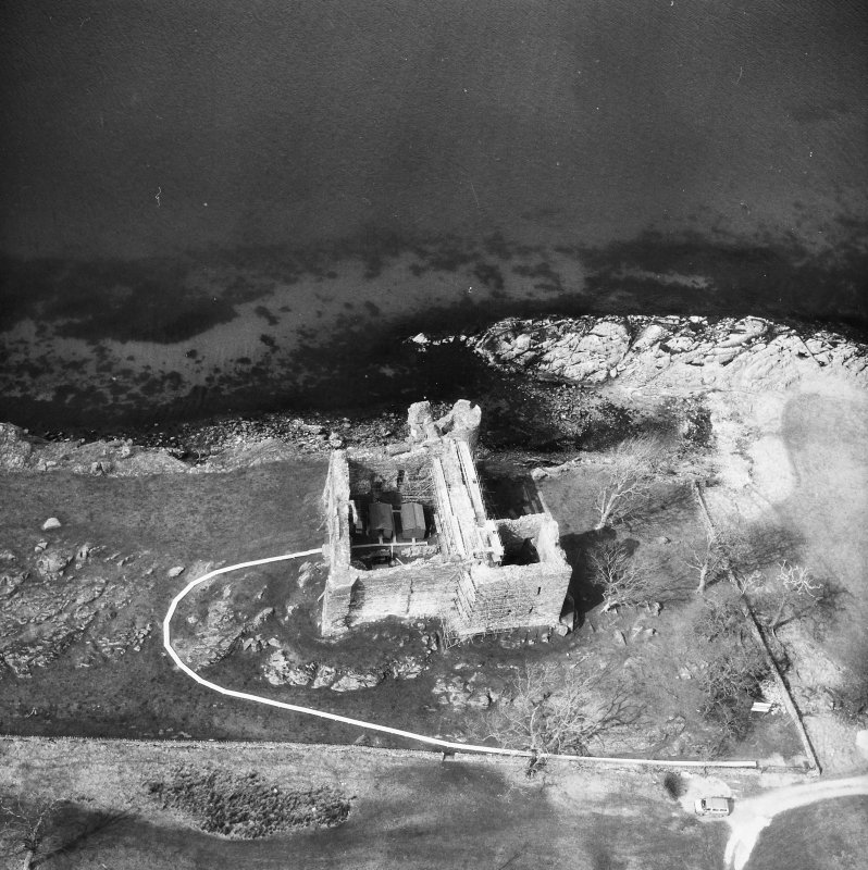 Castle Sween. Aerial view from the South-East.