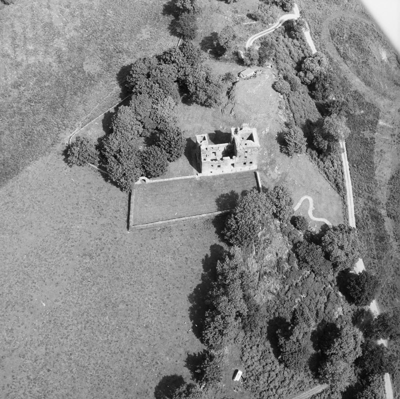Carnasserie Castle. Oblique aerial view from South.