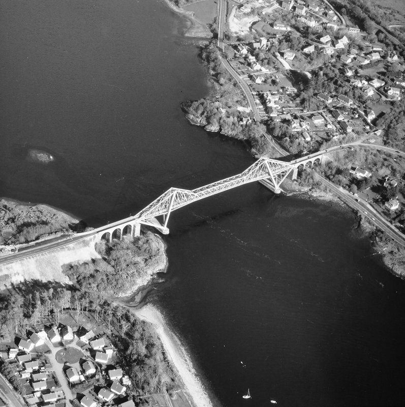 Connel Bridge. Oblique aerial view from North-West.