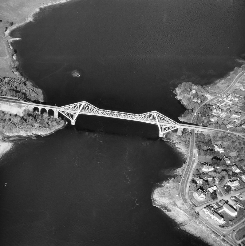 Connel Bridge. Oblique aerial view from West.