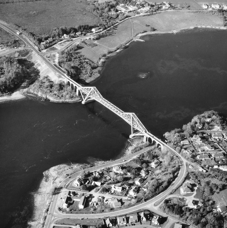 Connel Bridge. Oblique aerial view from South-West.