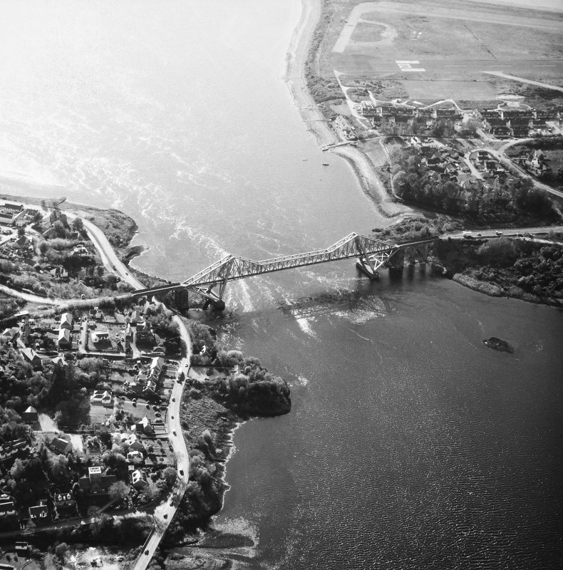Connel Bridge. Oblique aerial view from East.