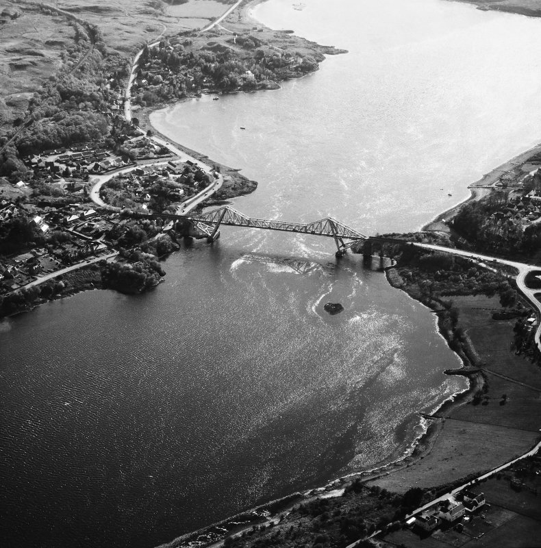 Connel Bridge. Oblique aerial view from North-East.