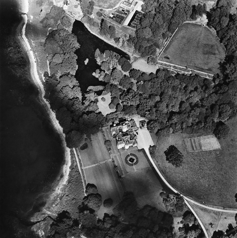 Oblique aerial view centred on Ardkinglas House, taken from the SW.