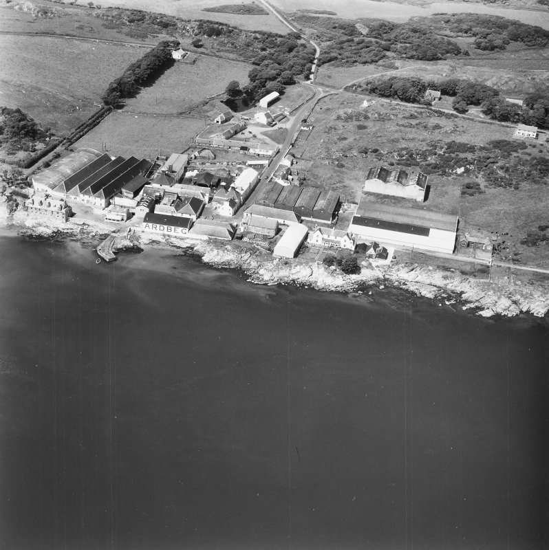 Ardbeg Distillery. Aerial view from South East.