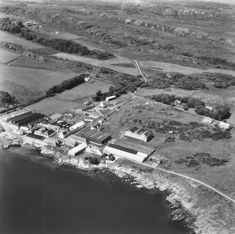 Ardbeg Distillery. Aerial view from South West.