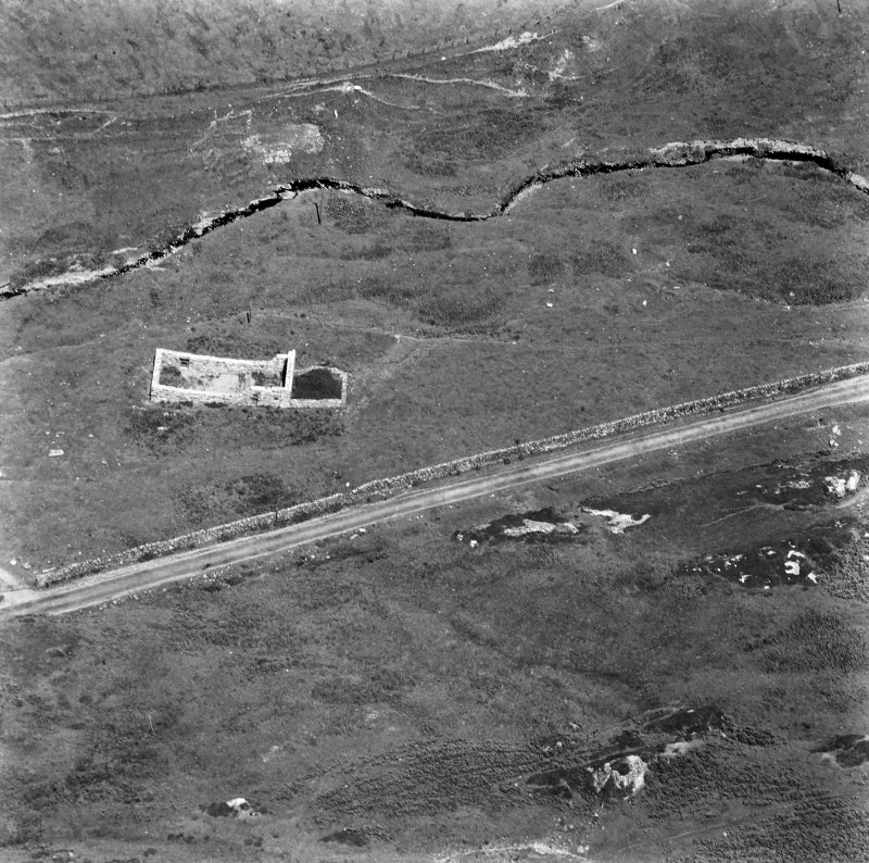 Kilchiaran Chapel, Kilchiaran. Aerial view of remains from South.